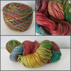 Pride, OOAK,  Worsted Weight,  220yards/100 grams, 100% Peruvian Highland Wool