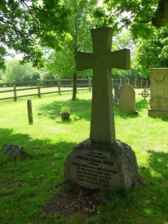 The grave of Sir Arthur Conan-Doyle in All Saint's church, Minstead, Hampshire, England. Scottish writer and physician, most noted for his fiction stories about the detective Sherlock Holmes