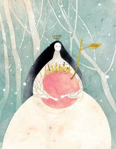 Snow White by Chun Eunsil. Chun Eunsil is one of my favorite artists. I dream that one day I'll be able to create works that evoke the same feeling of gentleness. Flickr page: http://flickr.com/albumleaf