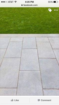 Love the big rectangle pavers.