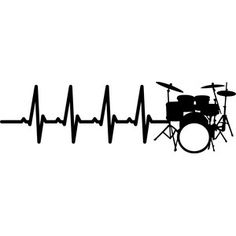 Silhouette Design Store - View Design #150848: heartbeat drums