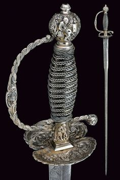 A silver mounted court sword.    provenance: France.