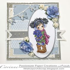Welcome to Paper Passionate Creations today I have been playing with some Connie Fong images and having so much fun I used Creative Basic Dies on my card.. Basic Stitched Flags Dotted Wing Die set Basic Pierced Ovals   This is  Holly Poinsettia
