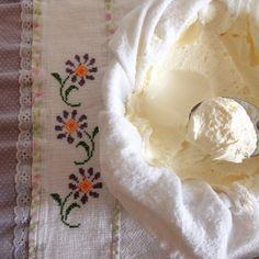Queijo mascarpone caseiro, que será utilizado pra testar uma receita nova para o blog!