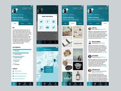 Client work for a people-review app. by Craig Silva