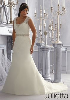 Wedding Dress From Julietta By Mori Lee Dress Style 3168 Crystal Beaded Embroidery Edges the Lace Appliques on this Organza Wedding Gown