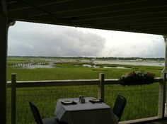 Just imagine it on a sunny day Gulf Stream Cafe in Garden City Beach S.C.