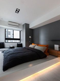 Unbelievable Cool Ideas: Minimalist Bedroom Green Decorating Ideas traditional minimalist home japanese style.Minimalist Home Closet Chic minimalist bedroom design white.Minimalist Home Architecture Glass Walls. Small Apartment Bedrooms, White Apartment, Apartment Bedroom Decor, Apartment Design, Bedroom Wall, Bed Room, Cozy Bedroom, Small Rooms, Apartment Interior