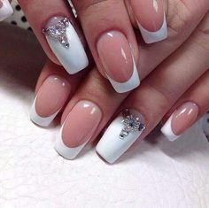 Give style to your nails with nail art designs. Used by fashion-forward personalities, these kinds of nail designs can incorporate immediate style to your wardrobe. Cute Nail Art, Cute Nails, Pretty Nails, French Nail Art, French Tip Nails, Bride Nails, Wedding Nails, Wedding Cake, Nail Manicure