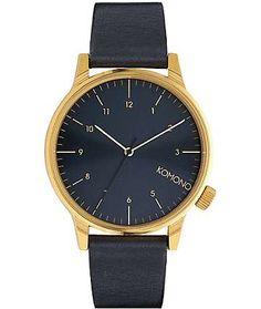 Komono Winston Regal Blue Analog Watch