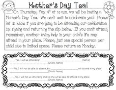 Mothers Day Tea in the classroom
