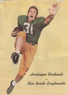 1959 HARLINGEN CARDINALS vs SAN BENITO GREYHOUNDS FOOTBAL PROGRAM TEXAS H.S.