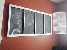 Antique Window Chalkboard, like this idea to