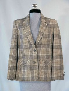 Vintage 1970s Classic Pendleton blazer beige by VintageRoseTattoo