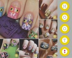owl nails. by katee