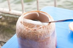 thạch dừa - jelly coconut. A refreshing snack.