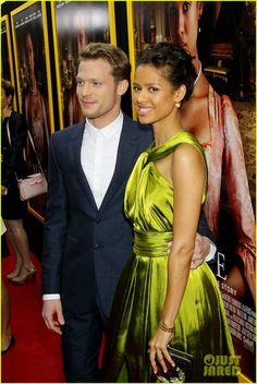 Sam Reid and Gugu Mbatha-Raw on the red carpet at the NYC 'Belle' Premiere Mixed Couples, Hot Couples, Famous Couples, Celebrity Couples, Black Woman White Man, Black Love, Beautiful Love, Beautiful Family, Sam Reid