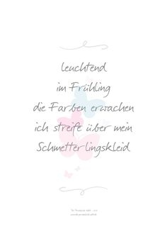 Printable/Druckvorlage: Elfchen - Mini-Frühlingsgedicht