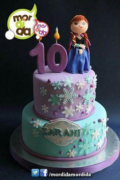 Anna Frozen Cake, Bolo Frozen, Anna Cake, Frozen Birthday Cake, 3rd Birthday Cakes, Birthday Candy, Disney Princess Party, Princess Anna, Frozen Theme