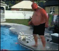 fat guy, tiny hole