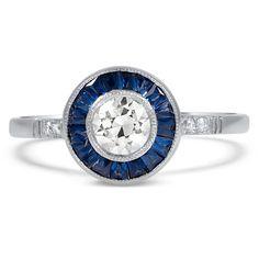 18K White Gold, Platinum The Krishna Ring from Brilliant Earth