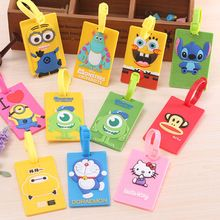 US $2.10 Rectangle Shaped Cartoon Travel Accessories Luggage Tag Suitcase Travel Bag Luggage Label. Aliexpress product