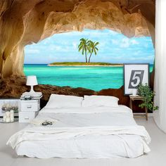 Wandbilder wallpaper Remote Island Wall Mural Should the Dad Attend the Birth of His Baby? Beach Wall Murals, Wall Murals Bedroom, 3d Wall Murals, Floor Murals, Bedroom Themes, Bedroom Decor, Wall Decor, 3d Wallpaper Mural, Beach Wallpaper