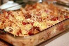Meatball pasta bake--make it easy with purchased meatballs...