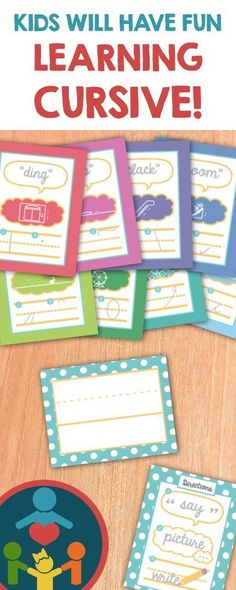 A FUN multi-sensory cursive handwriting curriculum. (Letter Stroke Flash Cards that accompany the Cursive Packet. Learning Cursive, Cursive Handwriting Practice, Handwriting Activities, Improve Your Handwriting, Handwriting Analysis, Fun Learning, Cursive Alphabet, Teaching Kids To Write, Teaching Resources