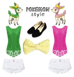 """""""PokemonStyle~ Deerling Twins"""" by eben8910 on Polyvore featuring One Teaspoon and H&M"""