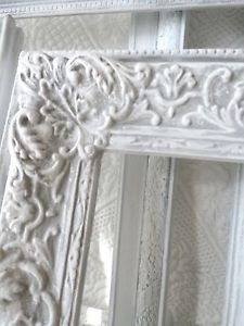 White Frame Vignettes Rococo French Vintage