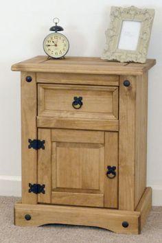 Corona Mexican Pine Bedside Cabinet/ Furniture | eBay