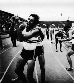 Photographer/Creator  Richard Clarkson  Collection  1971  Publisher  Topeka Capital-Journal  Caption/Description  Photographs show the reaction of a relay team from Texas after they unexpectedly won the race.