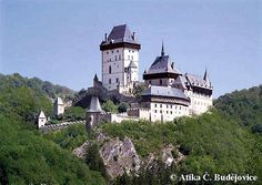 Karlštejn - important castle for czech history - it was built by king Charles IV. in 13th century for safe-keeping of czech regalia