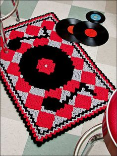Ravelry: 1950s Record Rug pattern by Susan Lowman