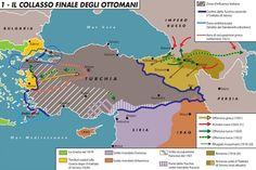 Il collasso finale degli ottomani Armenian History, Cultural Identity, Alternate History, Ottoman Empire, Historical Maps, World History, Middle East, Planer, Kurdistan