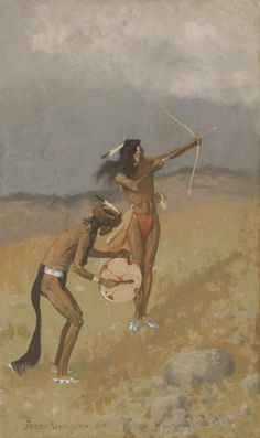 Sid Richardson Museum: The Thunder-Fighters Would take Their Bows and Arrows, Their Guns, Their Magic Drum by Frederic Remington