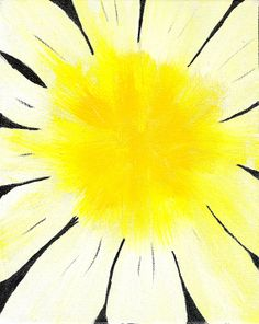 Abstract Daisy Painting Infused with Crystal Energy by reJoyceJems, $30.00