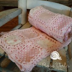 Patchwork crochet baby blanket vintage by TheStrumpetsTentacle