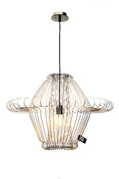 lamp made from clothes hangers!