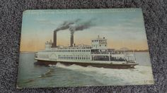 Postcard Ca SP Ferry Steamer Santa Clara San Francisco 1900 Smokes Belching