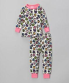 Look at this #zulilyfind! Rainbow Leopard Pajama Set - Infant & Toddler by Cat & Cow #zulilyfinds