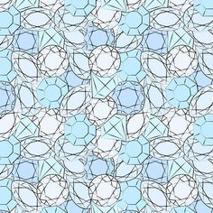 blue diamonds pattern fashion illustration