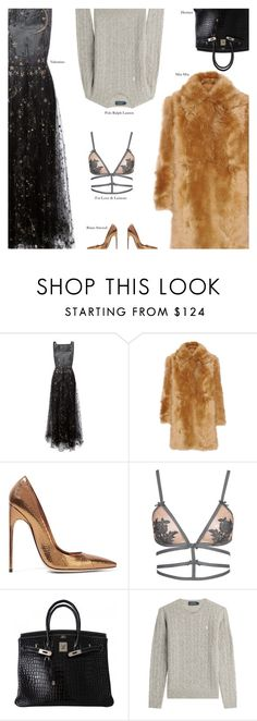 """""""Tuesday"""" by amberelb ❤ liked on Polyvore featuring Valentino, Miu Miu, Brian Atwood, For Love & Lemons, Hermès and Polo Ralph Lauren"""