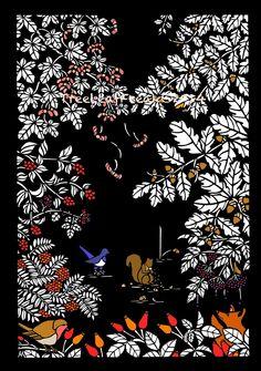 Tree Leaf Freak 日本語版: 作品:切り絵イラスト