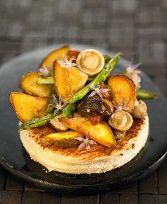 Sauteed mushrooms and vegetables