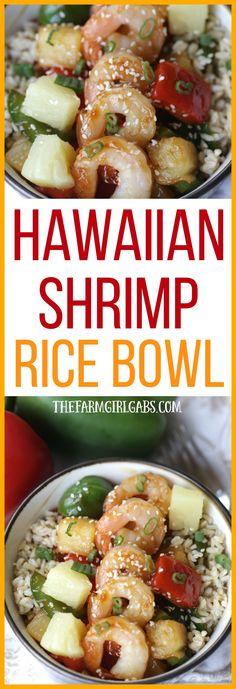 This Hawaiian Shrimp Rice Bowl is a flavorful and simple 30-Minute meal that is full of Polynesian flavors. #StirUpTheFun #Ad @minutericeUS  @DoleSunshine   @kikkomanusa @shopritestores