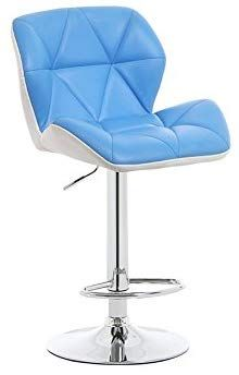 ZfgG High Stool Fashion Seat Design High Stool Bar Stool Reception Chair Can Be Assembled And Lifted Cm High (color : Blue) High Bar Stools, High Stool, Color Blue, Reception, Canning, Chair, Furniture, Design, Home Decor