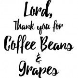 Coffee Beans And Grapes Heat Transfer Design - Pro World Inc.