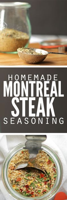 Easy recipe for homemade Montreal steak seasoning plus bonus homemade Montreal chicken seasoning, using spices you already have. Frugal, simple and delicious - it's our favorite spice for just about a (Whole Chicken Seasoning) Homemade Spices, Homemade Seasonings, Real Food Recipes, Cooking Recipes, Easy Recipes, Cooking Tips, Rub Recipes, Do It Yourself Food, Spice Mixes